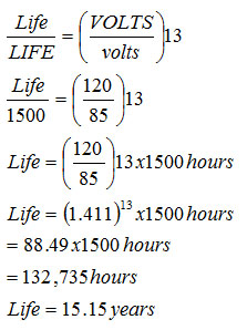 bulb-life-calculation